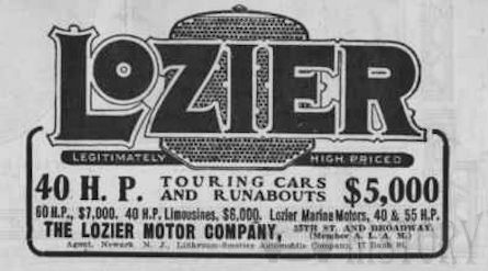 Automotive manufacturer of United States of America from 1900 to 1918.