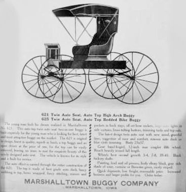 Automotive manufacturer of Marshalltown , Iowa.United States of America from 1909.