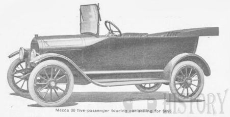 Mecca (Times Square Automobile Company) Automotive manufacturer of New York.United States from 1915 to 1917