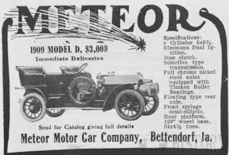 Automotive manufacturer of Bettendorf , Iowa.United States from 1906 to 1909