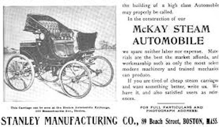 (Stanley Manufacturing Company)  Automotive manufacturer of Lawrence , Massachusetts.United States from 1899 to 1902.