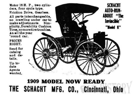 Schacht  Motor Car Company  Automotive manufacturer of Cincinnati Ohio. United States from 1904 to 1940.