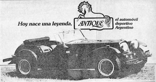 Eniak SA  Automotive manufacturer of Buenos Aires.Argentina from 1983 to 1990.