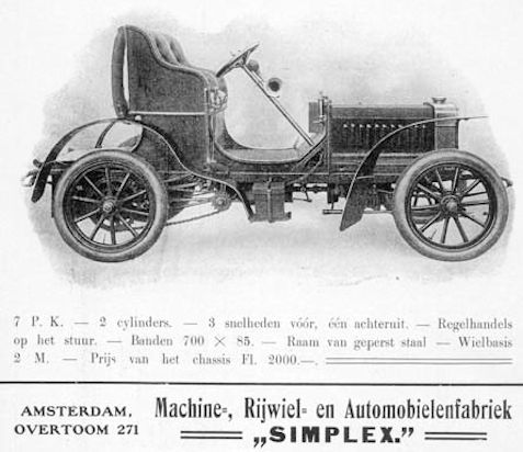 Automotive manufacturer of Netherlands from 1899 to 1919.