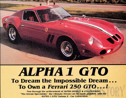 Alpha Design & Engineering  Automotive manufacturer of Huntington Beach , California.United States from 1983 to 1985.