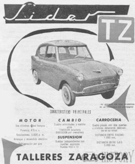 TZ Síder (Talleres Zaragoza SA) Automotive manufacturer of Spain from 1956 to 1960.