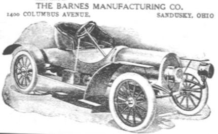 Barnes Automotive manufacturer of Sandusky, Ohio.United States from 1907 to 1910.
