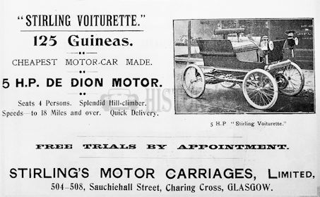Carmakers manufactured in Edinburgh.Great Britain from 1897 to 1903.