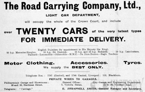 Car manufacturer of Liverpool .Great Britain from 1906.