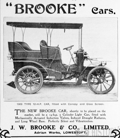 Automotive manufacturer of Lowestoft in Suffolk.Great Britain from 1902 to 1913.