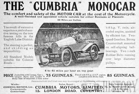 Automotive manufacturer of Cockermouth, Cumberland .Great Britain from 1914