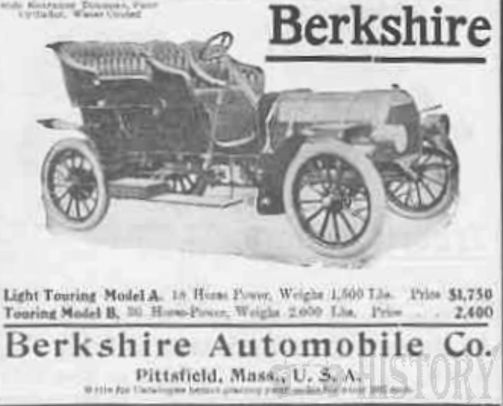 Automotive manufacturer of Pittsfield , Massachusetts.United States from 1903 to 1912.