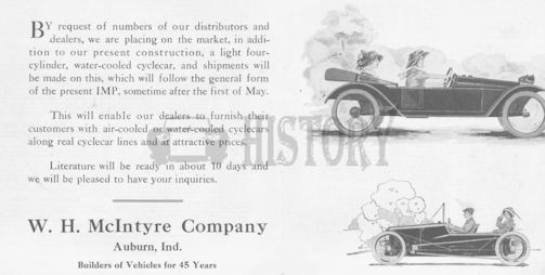 Automotive manufacturer of Auburn, Indiana.United States from 1913 to 1914.