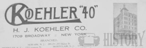manufacturer of New York.United States from 1898 to 1923.