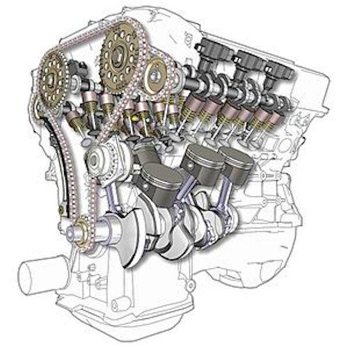 V6 Car engine