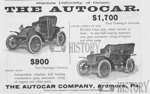 Autocar Company  American Automotive cars