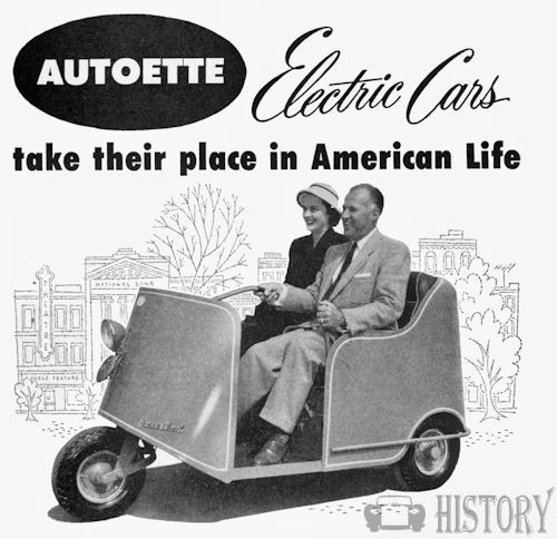 Autoette Electric Car Company American Automotive Manufacturer Long Beach California Usa From 1948 To