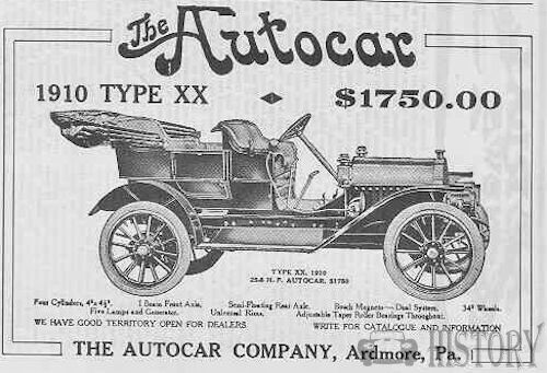 Autocar Company  American Automotive manufacturer Ardmore, Pennsylvania,, USA From 1897 to present