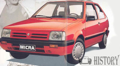 Nissan Micra First generation K10 facelift 1990