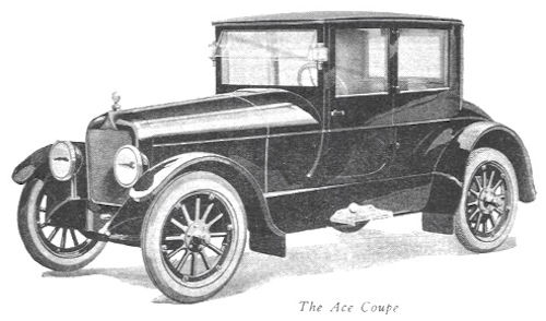 Apex Motor Car Company (Ace)  American Automotive manufacturer Ypsilanti, Michigan, USA From 1920 to 1923