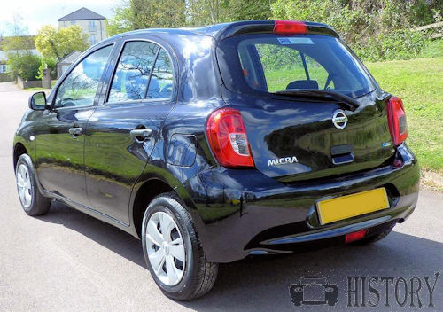 Nissan Micra Fourth generation facelift from 2013 rear view