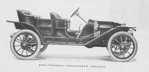 Everitt 1910 tonneau car