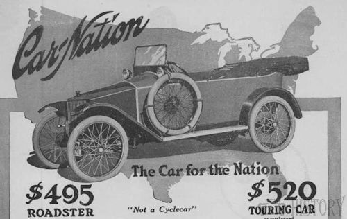 Car-Nation  American Automotive manufacturer Detroit, Michigan, USA From 1913 to 1914