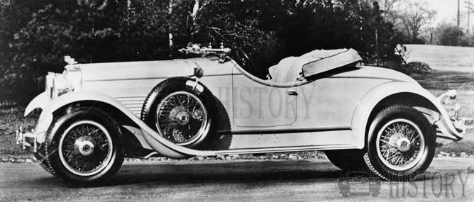 1929 Stutz Blackhawk open roadster car
