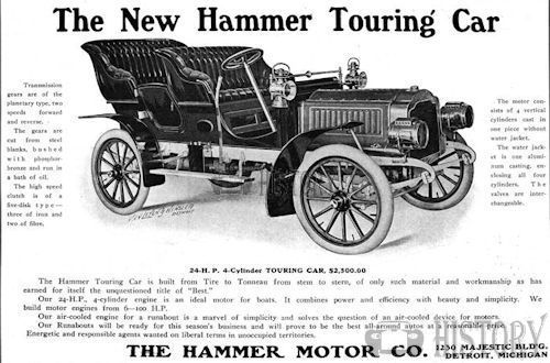 Hammer   American Automotive Detroit, Michigan.USA touring from 1905.
