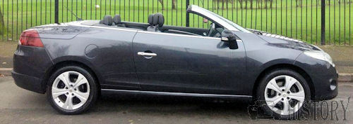 Renault Mégane 3 convertible from 2010 side view