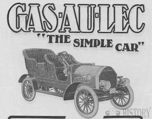 Gas-au-lec   American Automotive manufacturer Galesburg, Illinois. USA From 1905 to 1906