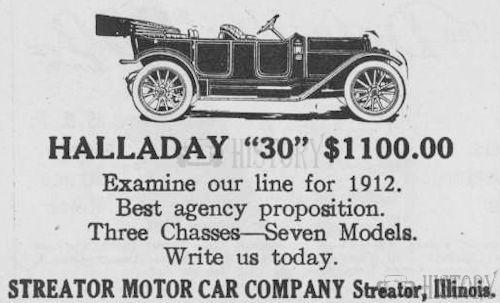 Halladay  American Automotive model 30 From 1912