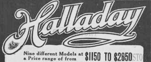 Halladay  American Automotive manufacturer Chicago, Illinois.USA From 1905 to 1922.