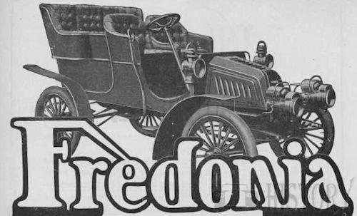Fredonia    American Automotive manufacturer Youngstown, Ohio., USA From 1902 to 1904