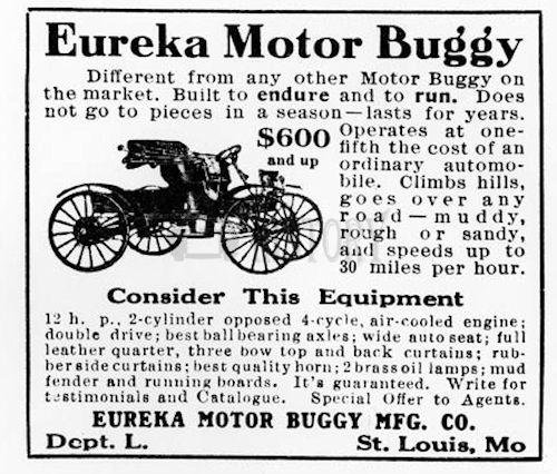 Eureka  American Automotive manufacturer St. Louis, Missouri, USA car From  1908