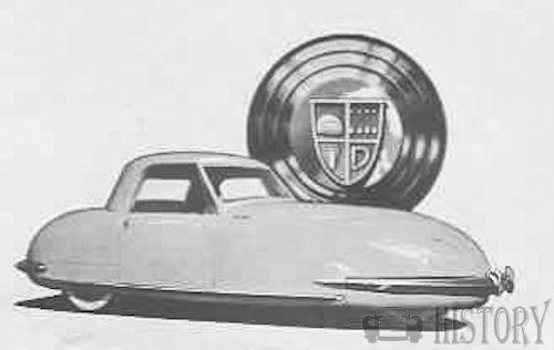 Davis Motorcar Company USA 3 wheel car 1940s