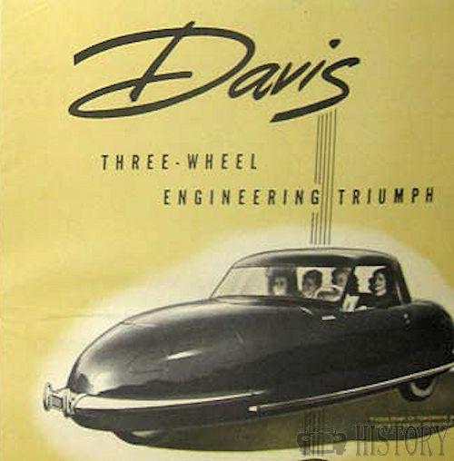 Davis Motorcar Company    American Automotive manufacturer Los Angeles, California.USA From 1947 to 1949