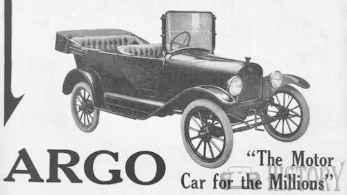 "1916-Argo-touring ""motor car for the millions""."