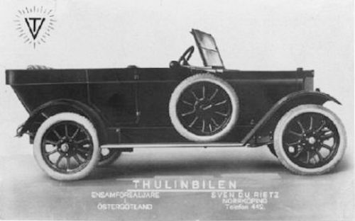 AB Thulinverken   Swedish automobile manufacture Landskrona,Sweden. Produced in 1920 to 1928