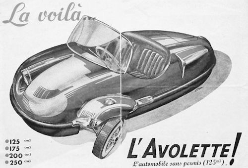 Avolette   French automobile manufacture Paris,France. Produced from 1955 to 1958