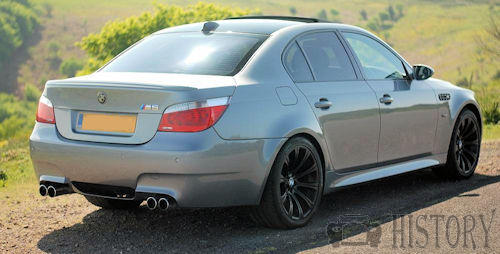 BMW M5 E60 rear view
