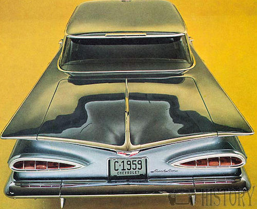 1959 Chevrolet Impala  Second generation top rear view