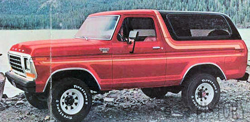 Ford Bronco Second Generation 1978 side view