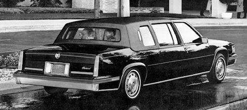 Cadillac Fleetwood Limousine rear view