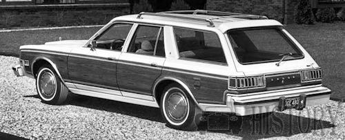 Dodge Diplomat 1980 Woodie rear view