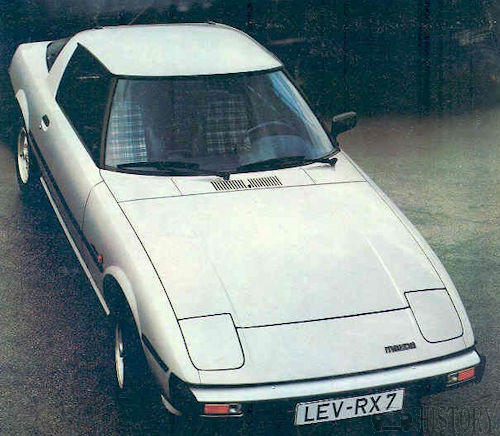 Mazda RX-7 First generation top view