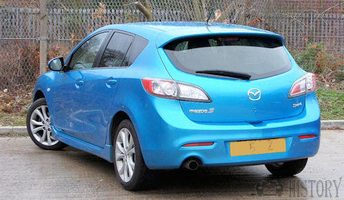 Mazda 3 Second generation rear view 2011