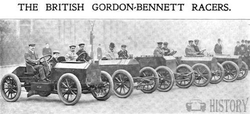 Gordon Bennett napier race cars
