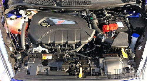 Ford Fiesta Mk 6 Sixth generation ST engine view