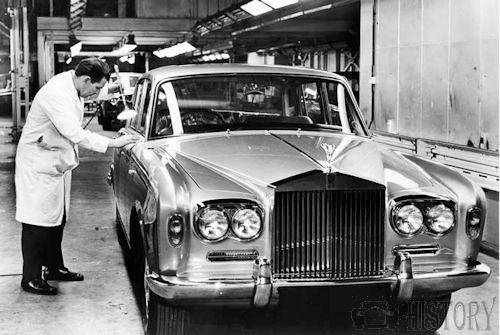 Rolls Royce Silver Shadow factory from 1972